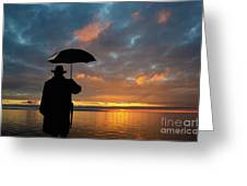 On The Edge Of Time Greeting Card