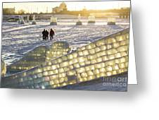 On The Ice Greeting Card