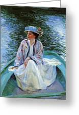 On The River Edge 1910 Greeting Card