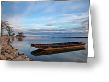 On The Shore Of The Lake Greeting Card