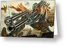 One Bullet, One Kill Greeting Card