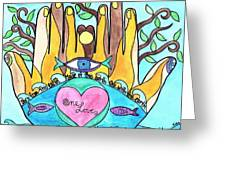 One Love One Earth Greeting Card