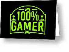 Online Gaming Nerd 100 Gamer Birthday Gift Idea Greeting Card