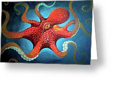 Optical Octopus Greeting Card
