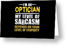 Optician Gift Sarcastic Funny Saying by Dusan Vrdelja