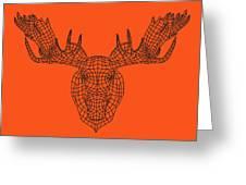 Orange Moose Greeting Card
