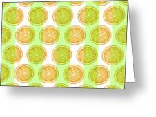 Orange Slice Pattern 2 - Tropical Pattern - Tropical Print - Lemon - Orange - Fruit - Tangerine Greeting Card