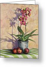 Orchids And Plums Greeting Card