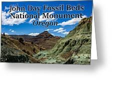 Oregon - John Day Fossil Beds National Monument Blue Basin Greeting Card