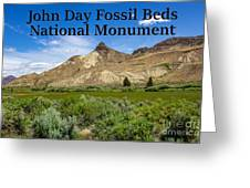 Oregon - John Day Fossil Beds National Monument Sheep Rock 1 Greeting Card