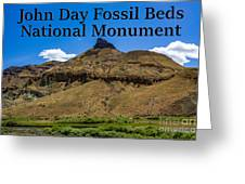 Oregon - John Day Fossil Beds National Monument Sheep Rock 2 Greeting Card