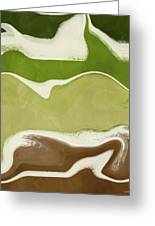 Organic Wave 1- Art By Linda Woods Greeting Card