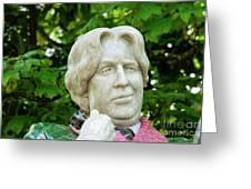 Oscar Wilde Statue One  Greeting Card