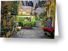 Osteria Roma - Jo Ann Tomaselli Greeting Card by Jo Ann Tomaselli