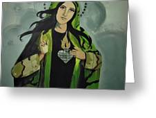 Our Lady Of Veteran Suicide Greeting Card by MB Dallocchio