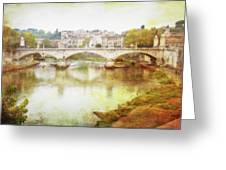 Over The Tiber Greeting Card