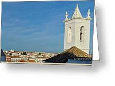 Overview Of Tavira City. Portugal Greeting Card