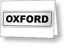 Oxford City Nameplate Greeting Card
