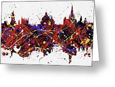 Oxford Colorful Skyline Greeting Card