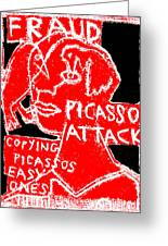 Pablo Picasso Attack 6 Greeting Card