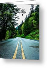 Pacific Northwest Road Greeting Card