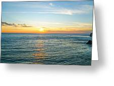 Pacific Ocean Sunset Greeting Card