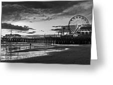 Pacific Park - Black And White Greeting Card