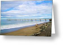 Pacifica Municipal Pier - California Greeting Card