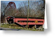 Painted Bridge At Chads Ford Pa Greeting Card
