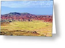 Painted Desert Panorama Greeting Card