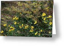 Painted Fall Flowers Greeting Card