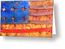 Painted Us Flag, Georgia, Usa Greeting Card
