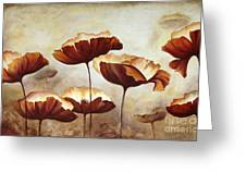Painting Poppies With Texture Greeting Card