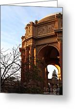 Palace Of Fine Arts At Sunset Greeting Card