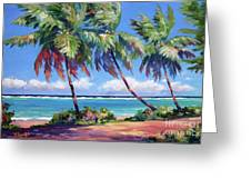 Palms At The Island's End Greeting Card