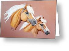 Palomino Pair Greeting Card