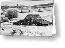 Palouse Barn Ir 9305 Greeting Card