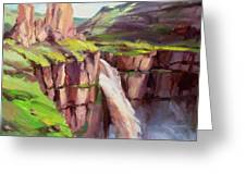 Palouse Falls Rush Greeting Card