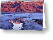 Panamint Reflection 2 Greeting Card