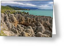 Pancake Rocks - New Zealand Greeting Card