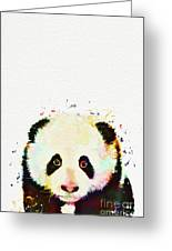 Panda Watercolor Greeting Card