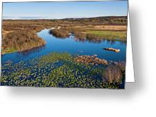 Panorama Of Mouth Of Betsie River Greeting Card