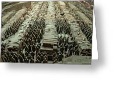 Panorama Of Pit 1, Terra Cotta Warriors Greeting Card