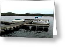 Panorama Of Schroon Lake In The Adirondack Mountains In New York Greeting Card by Rose Santuci-Sofranko