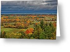 Panoramic Autumn View Greeting Card