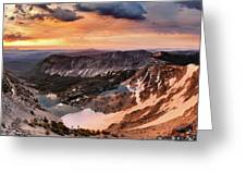 Panoramic Cdt Sunrise Greeting Card