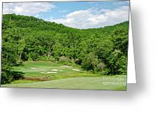 Par 3 Hole 16 Greeting Card by Claire Turner