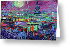 Paris By Moonlight Greeting Card