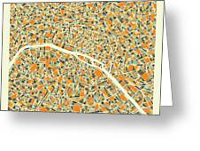 Paris Map 1 Greeting Card