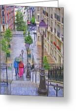 Paris Sous La Pluie Greeting Card